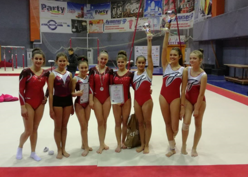 A cup and 2 medals for the gymnasts in Plovdiv
