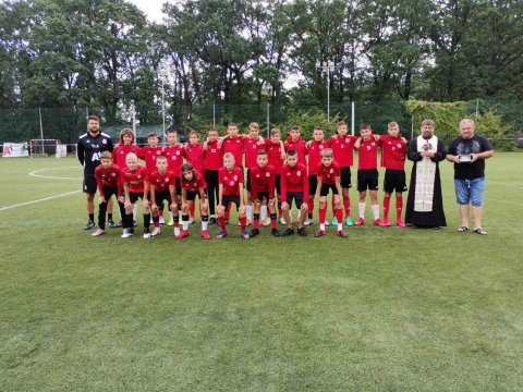 Prayer for the health of CSKA U14 children before the start of the season
