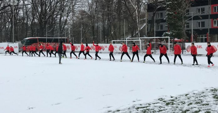 The academy players started training