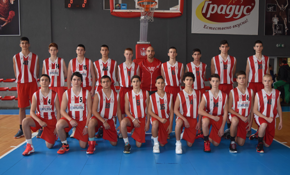 The BC CSKA U16 with a win in Samokov