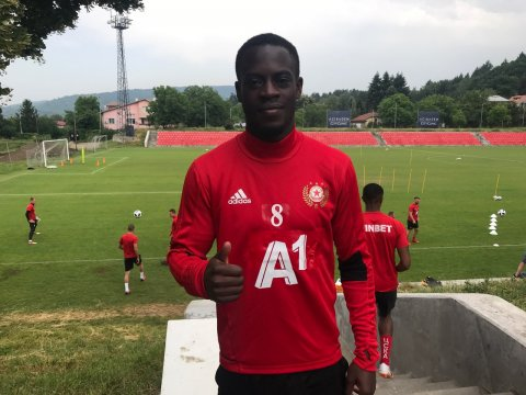 Edwin Gyasi started training with the team (VIDEO)