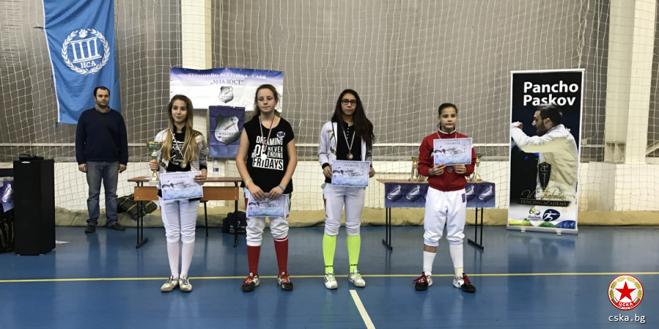 2 bronze medals for the CSKA fencers