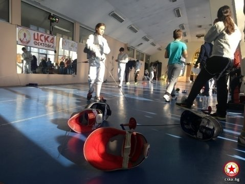 Five CSKA fencers at the Bulgaria Cup