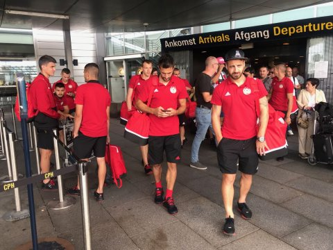 The team arrived in Copenhagen (PHOTOS)