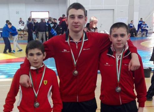 The Army men with 3 medals in Burgas