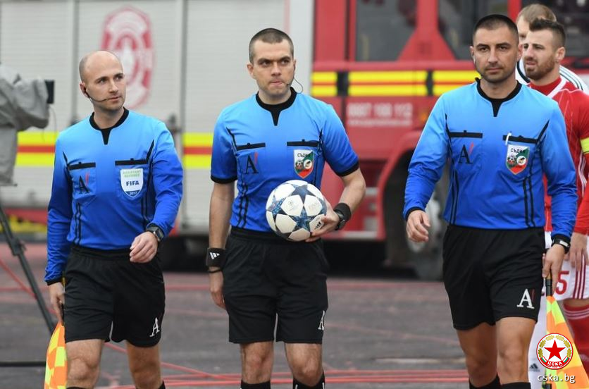 The referee assignments for the Levski - CSKA game