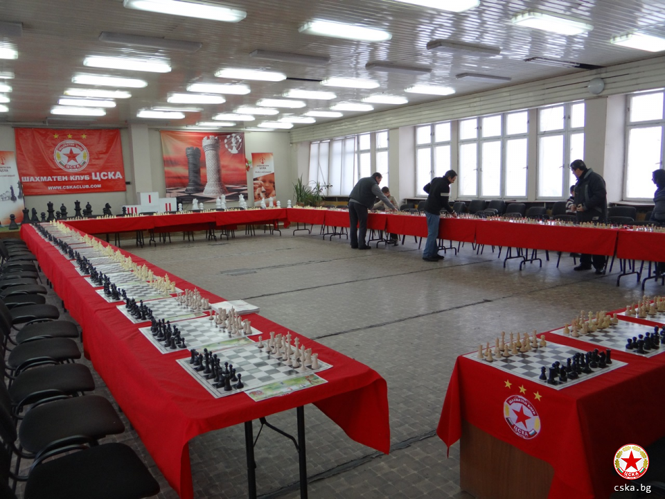 Charity chess tournament of chess club CSKA