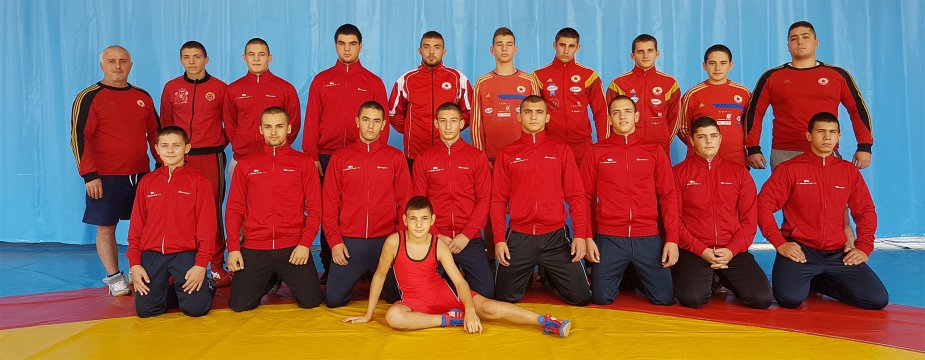 CSKA with 5 boys at the greco-roman wrestling championship