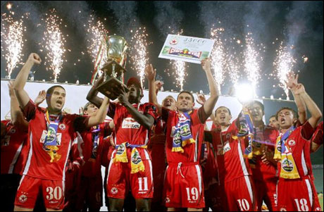 2006 - The Bulgarian Supercup after the win against Levski